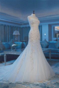 Sexy Bra fishtail skirt embroidered wedding dress US $299.00