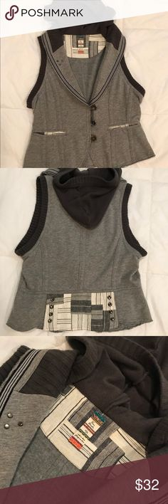 ⭐️HP🎉Free People vest Free people patchwork sweater vest 🎊 HOST PICK 9/28- Crush Closet Party🎉 Free People Jackets & Coats Vests