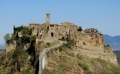 Western side of Civita Bagnoreggio Italia   Accessible only by the bridge you see in front.
