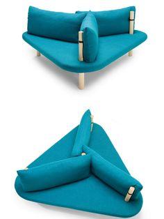 3 seater fabric #sofa HOLMEN by Källemo Collection | #design Kristian Knobloch #blue