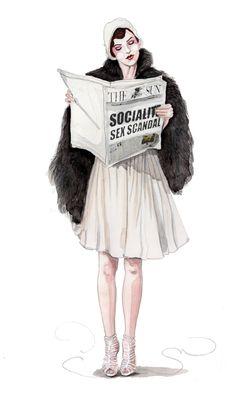 retro fashion illustration by tracy hetzel