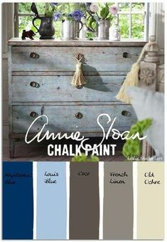 Annie Sloan Chalk Painted Dresser Colours Painted Furniture
