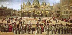 Gentile Bellini - Procession in St. Mark's Square, 1496