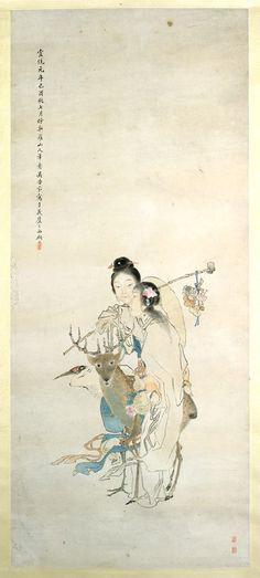 Female Immortals Artist: Wu Shujuan (Chinese, 1853–1930). Period: Qing dynasty. Date: dated 1909. Culture: China