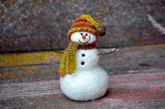 Snowmen  handmade Needle Felted wool Snowman  by BearCreekDesign, $50.00