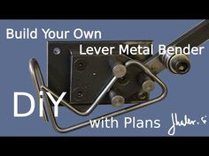 One of my previous videos had only the design and drawings of the lever metal bender. Now you can see how it works. Metal Working Tools, Metal Tools, Welding Projects, Projects To Try, Metal Bender, Diy Garage, Build Your Own, Diy Tools