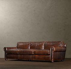 Distressed leather sofa!