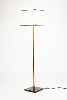 Art Deco Floor Lamp with Marble