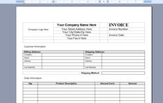 billing invoice template in word