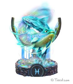 Pisces - The best illustration I've seen of Pisces is on Tarot.com. Tremendous work of art!