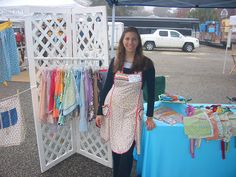 Look at the rainbow of vintage aprons by Joyful Abode, via Flickr