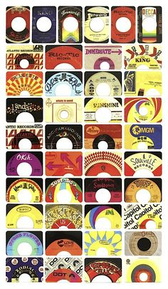 Bunch of cool labels on these old 45's... even a Stax and Soultown, hard to find.