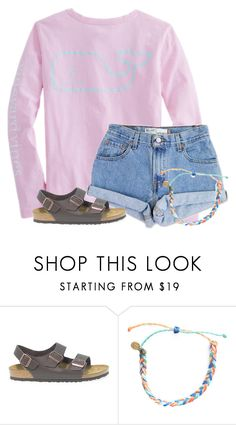 """""""ONLY 10 MORE FOLLOWERS!!!"""" by flroasburn ❤ liked on Polyvore featuring Vineyard Vines, Levi's, Birkenstock and Pura Vida"""