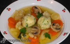 Zöldség leves grízgombóccal recept fotóval