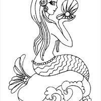 Printable Coloring Pages For Adults Mermaids