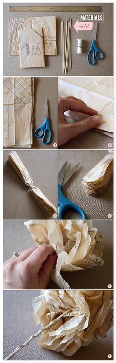 tutorial: how to make paper flowers