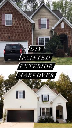 White Exterior Paint, White Exterior Houses, White Siding, House Paint Exterior, Exterior House Colors, Shutters Brick House, Brick Siding, Black Shutters, Vinyl Siding