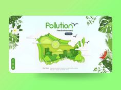 Pollution Free Environment: Landing page designed by Master Creationz. Connect with them on Dribbble; the global community for designers and creative professionals. Online Web Design, Web Ui Design, Web Design Agency, Web Design Trends, Landing Page Inspiration, Ui Design Inspiration, Mobile App Design, Web Layout, Layout Design
