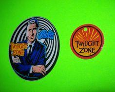 Bally The TWILIGHT ZONE 1993 NOS Orig. Pinball  Machine Plastic PROMO Set Of 2   #Bally #TwilightZone #PinballPromos