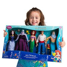 The Little Mermaid Deluxe Doll Gift Set Disney Princess Toys, Ariel Disney, Baby Disney, Disney Animator Doll, Disney Dolls, Disney Animators Collection, Toys For Girls, Kids Toys, Little Mermaid Toys