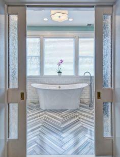 chevron marble floor #fashion #decor #interior #interiordesign #design #beautiful #furniture #home #style #architecture #detail #flooring #chevron #bathroom #marble