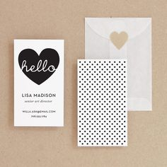 INSTANT DOWNLOAD - Hello - DIY Printable Business Card. $19.00, via Etsy.