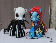 Custom My Little Pony Jack Skellington and Sally by Tat2oodMonster, $80.00