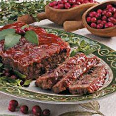 Cranberry Meat Loaf Recipe