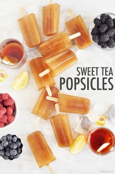 Sweet Tea Popsicles | The Chic Site