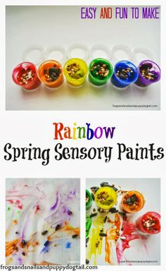 Rainbow Spring Sensory Paints by FSPDT