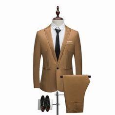 Oeak 2018 Hot 2 Pieces Blazer& Pants Set Men Formal Business Suit Sets Casual Slim Plus Size Wedding Party Suits Men Wedding Dress Men, Wedding Men, Wedding Suits, Mens Suits For Sale, Party Suits, Men Formal, Casual Blazer, Mens Fashion Suits, Cool Suits