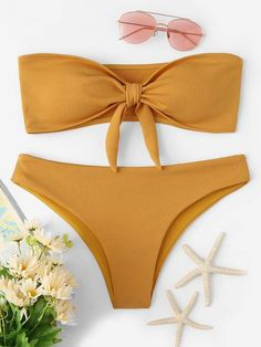 Shop Knot Front Top With High Leg Bikini Set online. SHEIN offers Knot Front Top With High Leg Bikini Set & more to fit your fashionable needs. High Leg Bikini, Bikini Set, Bikini Swimwear, Knot Front Top, Bikini Ready, Bikini Outfits, Cute Bathing Suits, Cute Swimsuits, Bra Types