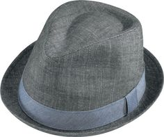 Hats Unlimited - Henschel - Denim Stingy Brim Fedora Hat, $32.99 (http://www.hatsunlimited.com/henschel-denim-stingy-brim-fedora-hat/)