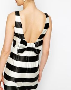 76cc0b54968 ASOS Candy Stripe Pencil With Bow Back at asos.com