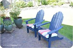 I need a fresh coat of paint on mine, I like the look of these especially the cushions.