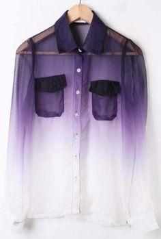Claire may not like dresses but she's still gotta wear something: purple, nice, feminine