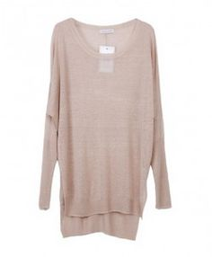 Candy Color High Low Knit Pullovers with Long Sleeves - Knitwear - Clothing - All Products