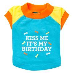 """Martha Stewart Pets® """"Kiss Me It's My Birthday"""" Tee   T-Shirts & Tank Tops   PetSmart"""