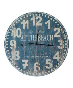 Look at this 'At the Beach' Wall Clock on #zulily today!