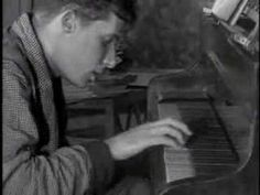 "Extracts from ""The art of Piano"" documentary show Glenn Gould playing J.S.Bach's Partita #2"