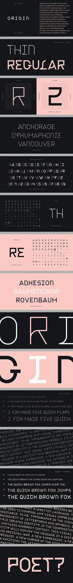 Origin Type Family - GraphicRiver #font #typography #alphabet #graphicdesign #BestDesignResources