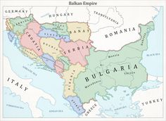Took the idea of Bulgaria being the Prussia of the Balkans bit further. Bulgaria doesn't only become the major power in the region but also unites the S. Germany of the Balkans World History, Art History, Ancient History, Map Symbols, Imaginary Maps, Old World Maps, Fantasy Map, Alternate History, Historical Maps
