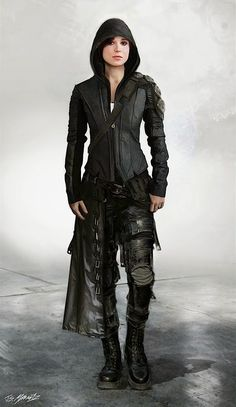 Outfits and Looks, Ideas & Inspiration Ellen Page - Concept art alternate costumes of Kitty Pryde in X-Men: Days of Future Past. Cyberpunk, Style Steampunk, Steampunk Fashion Men, Gothic Fashion Men, Vampire Fashion, Victorian Fashion, Urban Fashion, Men Fashion, Fashion Design