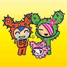 Tokidoki Characters Laughing