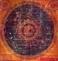 Thangka of Tibetan Buddhist Cosmology, 1684, Tibet