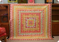 trip around the world quilt top by twinfibers, via Flickr