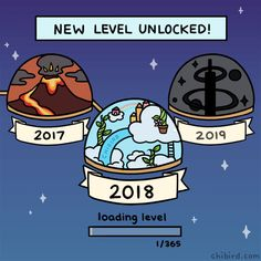 New level unlocked: 2018! 🎉 Congratulations on completing level 2017, and best of luck on all the challenges and thrills of this new year. Happy new year, players! 💛 Webtoon | Patreon | Instagram