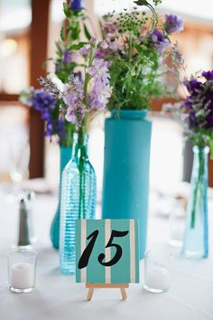 #table-numbers, #posies  Photography: Sj2 Photography - sj2blog.com Flowers: The Posie Peddler  - www.floristsaratogasprings.com