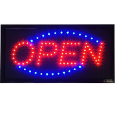 """LED Open Store Shop Business Sign 19x10"""" neon  Display Lights 64%OFF  Now:US $17.95"""