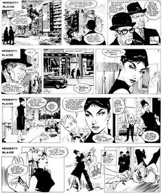 Modesty Blaise by Peter O'Donnell (1920-2010). Art by Jim Holdaway
